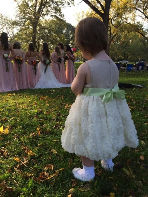 foto de One of our two adorable flower girls The dresses were