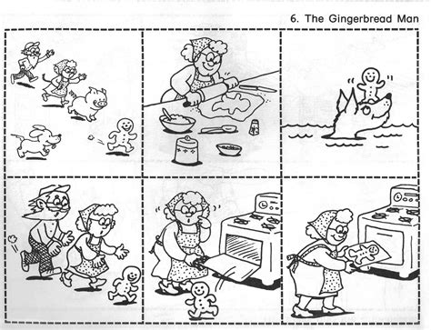 the gingerbread pictures for story recall sequence 909   sequence