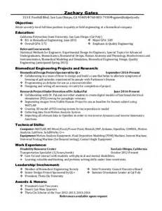 resume objective statement for fair career fair resume