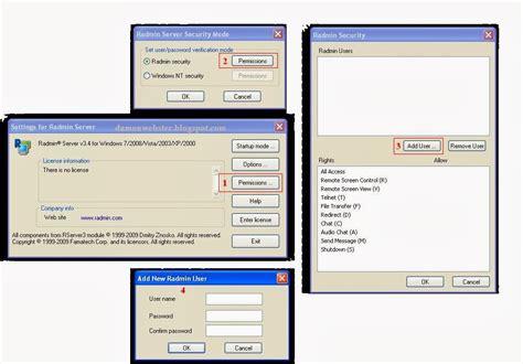 Cara Buat Noten by Cara Instal Dan Setting Radmin 3 4 Buat Server Mds Note S