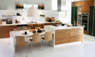 Kitchen Island And Dining Table Kitchen Island With Table Attached Mit Leicht Skandinavischem Charme Oben Die Küche Ikea