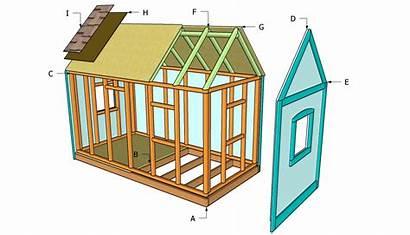 Playhouse Plans Playhouses Outdoor Diy Wooden Backyard