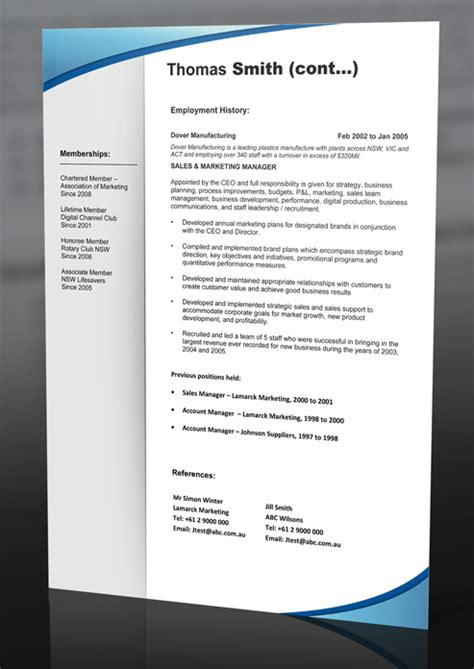 resume templates professional resume template