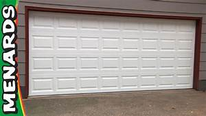 garage door how to install menards youtube With 18 x 7 garage door prices