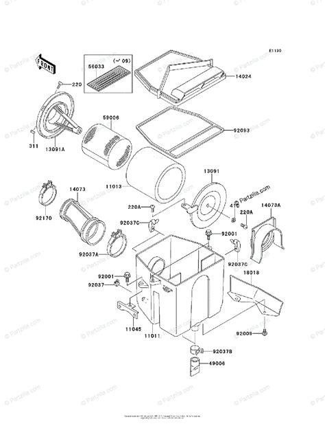 Kawasaki Atv Oem Parts Diagram For Air Cleaner