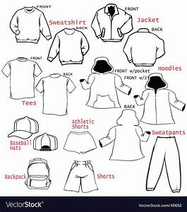 Clothing Apparel Templates Royalty Free Vector Image