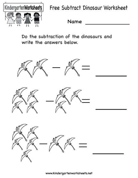 7 best images of dinosaur kindergarten worksheets