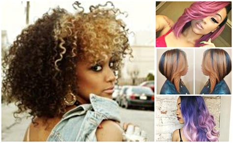Color Hairstyles For Black Hair by Best Hair Color Ideas For Black Hairstyles Hair