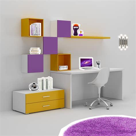 bureau avec rangements bureau enfant trés coloré moderne compact