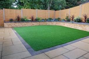 back garden landscaping artificial grass laid in square back garden amazonartificialgrass ie artificial grass