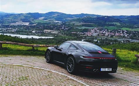 Wallpaper : Porsche 992 Carrera S, car, black cars ...