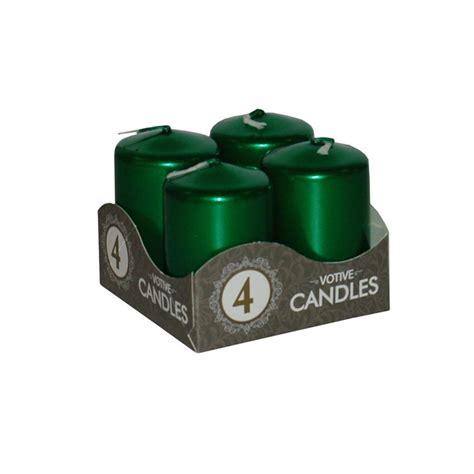 Candele Verde - candele verde metallizzato 4 pezzi