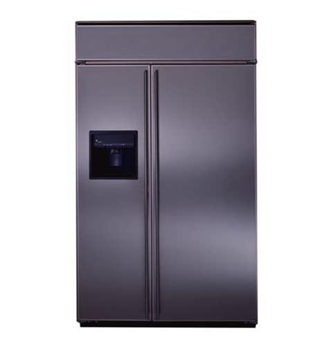 zissdyss ge monogram  built  side  side refrigerator  exterior dispenser
