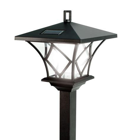 Solalite 15m Tall Outdoor Solar Powered Black Garden Lamp