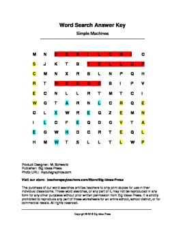 simple machines word search worksheet simple machines word search grades 1 3 by big ideas