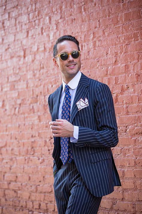 Pinstripe Suit, Italian Flair - He Spoke Style