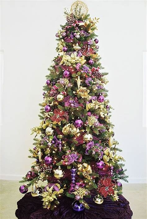 purple  gold christmas decorations images
