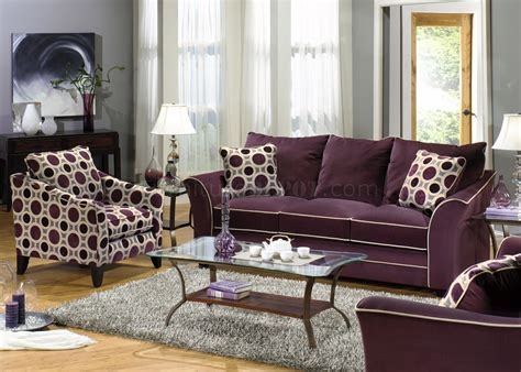 Eggplant Suede Fabric Modern Sofa & Loveseat Set W/options Florida Game Rooms Clothes Drying Room Design Chairs For Sitting White Wood Divider Small Laundry Makeovers Paint Colors Powder Gaming Chat Picture Of A
