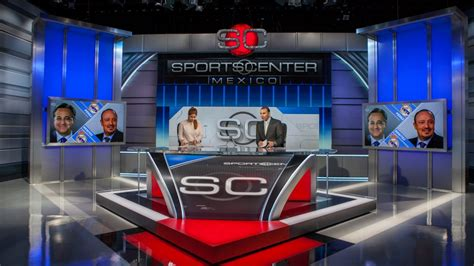 sportscenter mexico broadcast set design gallery