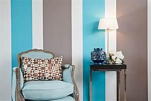 peindre des rayures parfaites en 5 etapes deco solutions With conseil pour peindre un mur 5 idees couleurs pour notre salonsam
