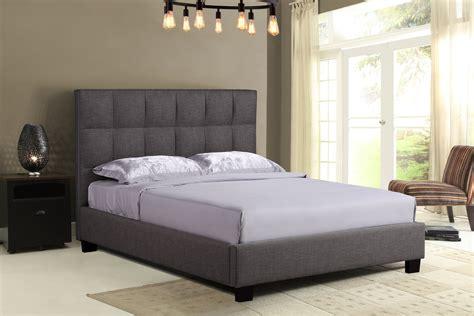 loft upholstered bed grey hom furniture