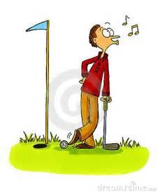 Cartoon Golfers Funny Golf