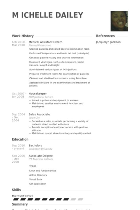 clinical assistant externship resume assistant resume sles visualcv resume sles database