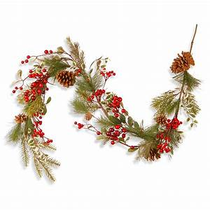 National, Tree, Company, 60, U0026quot, Red, Berry, Garland
