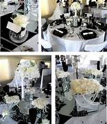 Table Decorations Black And White Theme Ideas Black And White Theme Various Party Decorating Ideas Black