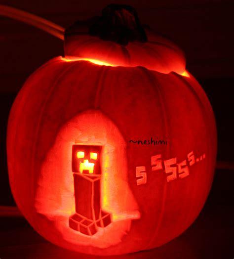 Minecraft Creeper Pumpkin Stencils by Brighttime Halloween Minecraft Texture Pack