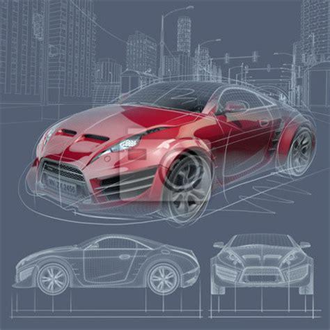 papier peint sports car sketch original car design