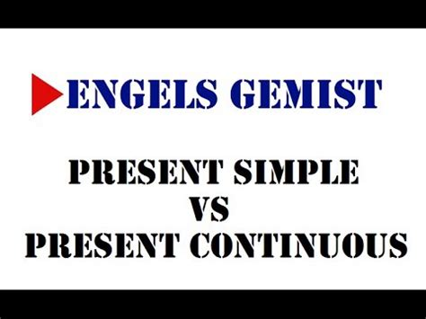 Present Simple Vs Present Continuous Youtube