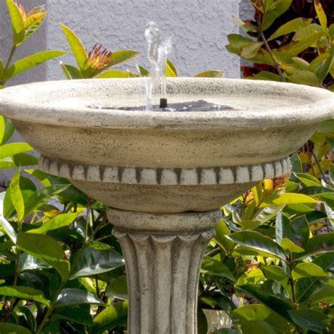 outdoor resin stone solar bird bath fountain