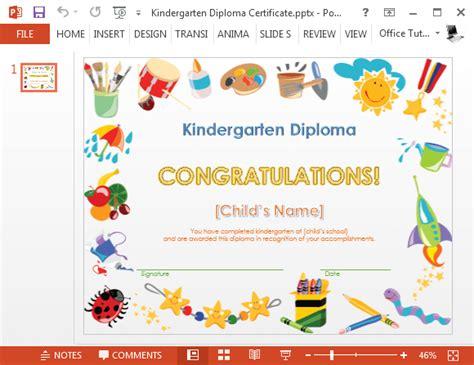 how to make a printable kindergarten diploma certificate 355 | Kindergarten diploma certificate PowerPoint template