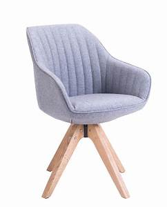 chaise design scandinave pivotante dune kayellescom With chaise fauteuil design