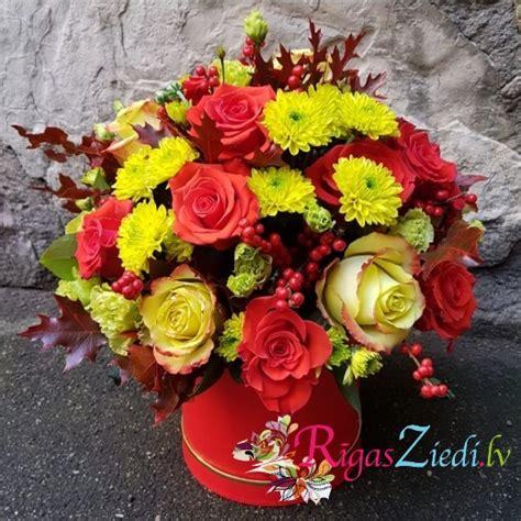 Ziedu kompozīcija Krāsainais rudens   Rīgas Ziedi