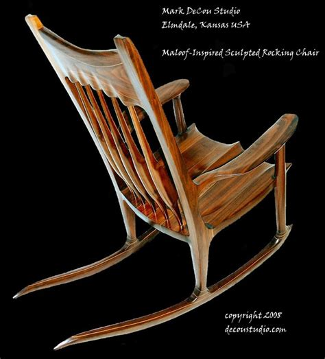 Maloof Rocking Chair Dimensions by A Moving Sculpture A Sam Maloof Inspired Rocker A