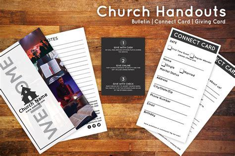 church connection card template church bulletin connect card flyer flyer templates on creative market