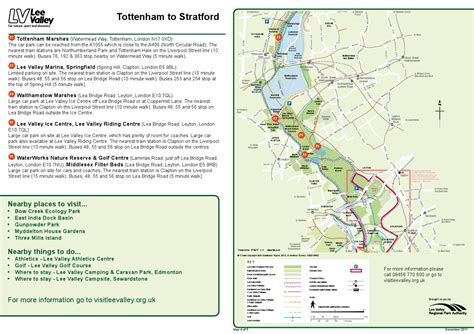 Getting Here Maps - Tottenham to Stratford by Lee Valley ...
