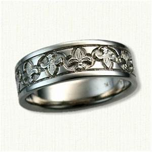 fleur de lis wedding rings affordable unique wedding With fleur de lis wedding rings