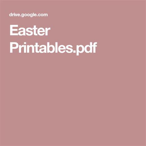 easter printablespdf  images easter printables