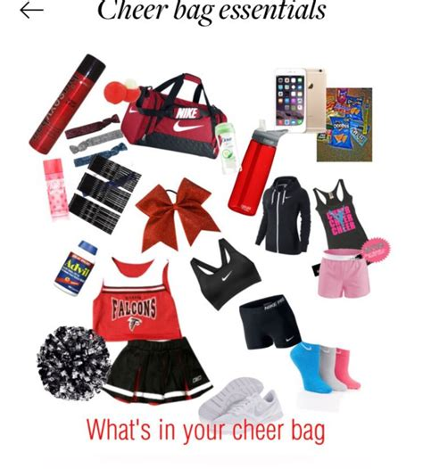 cheer bag essentials cheer bag cheer outfits cheer practice outfits