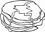 Pancake Breakfast Coloring Colouring Fried Clipart Cartoon Pinclipart Transparent sketch template