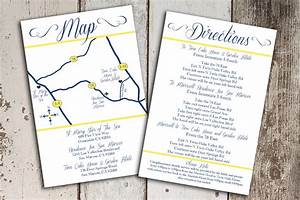custom wedding map and direction invitation insert With how to make wedding invitations inserts