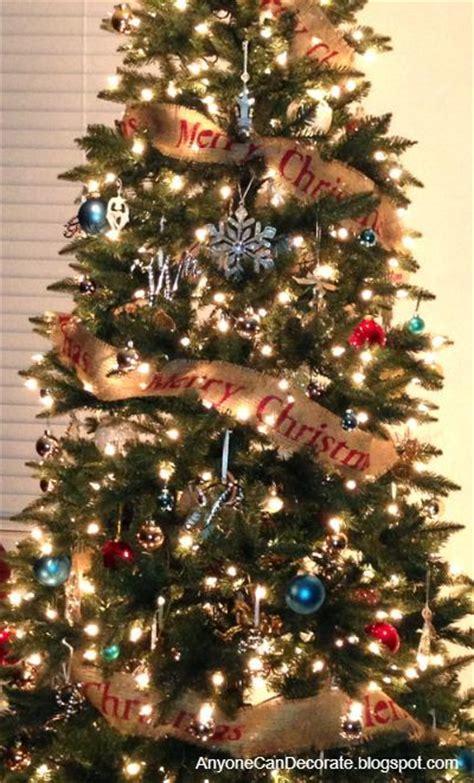 diy burlap christmas tree garland hometalk