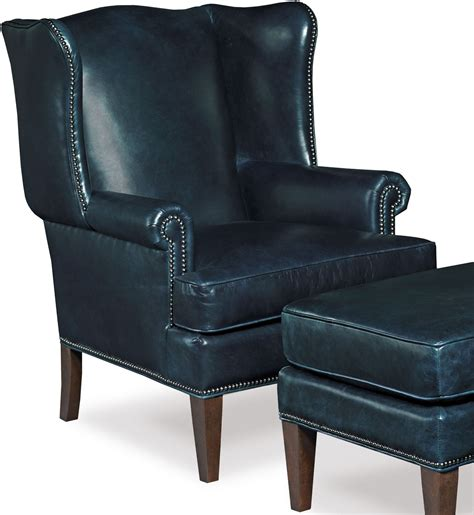 blakeley blue leather club chair from coleman