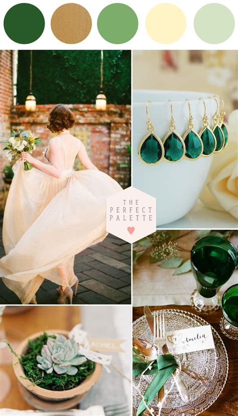 Palette Fresh Emerald Green by Emerald And Ivory Wedding Inspiration In 2019 Creative