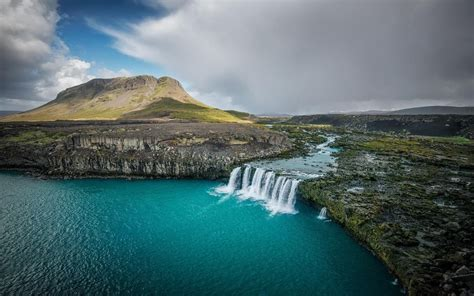 Download 1920x1200 Thjofafoss Iceland Waterfall River