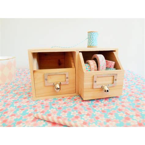 rangement tiroir bureau rangement bureau 2 tiroirs en bois