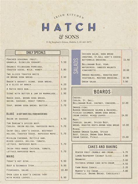 Carte De Menu Restaurant Pdf by Hatch Pdf 011 35 Beautiful Restaurant Menu Designs Menu